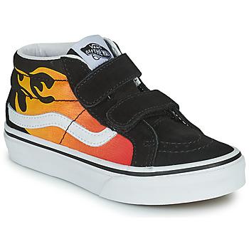 Pantofi Băieți Pantofi sport stil gheata Vans SK8-MID Negru / Roșu