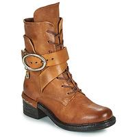 Pantofi Femei Botine Airstep / A.S.98 NOVASUPER LACE Camel