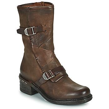 Pantofi Femei Botine Airstep / A.S.98 NOVASUPER BUCKLE Maro