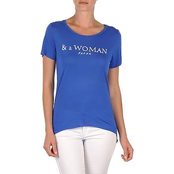 Îmbracaminte Femei Tricouri mânecă scurtă School Rag TEMMY WOMAN Albastru