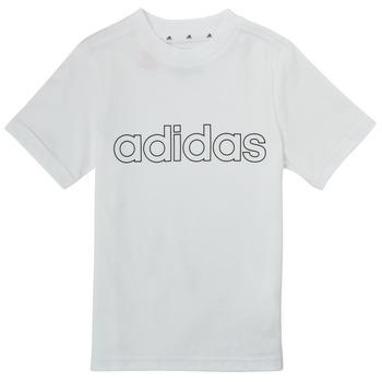 Îmbracaminte Băieți Tricouri mânecă scurtă adidas Performance ALBA Alb
