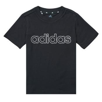 Îmbracaminte Băieți Tricouri mânecă scurtă adidas Performance SAMINA Negru