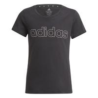 Îmbracaminte Fete Tricouri mânecă scurtă adidas Performance PLAKAT Negru