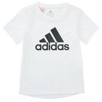 Îmbracaminte Băieți Tricouri mânecă scurtă adidas Performance NADEGE Alb