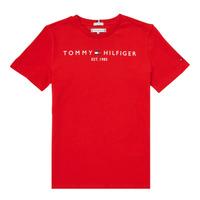 Îmbracaminte Băieți Tricouri mânecă scurtă Tommy Hilfiger SELINERA Roșu