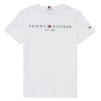 Îmbracaminte Băieți Tricouri mânecă scurtă Tommy Hilfiger SELINERA Alb