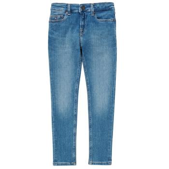 Îmbracaminte Băieți Jeans skinny Tommy Hilfiger SIMON Albastru