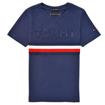 Îmbracaminte Băieți Tricouri mânecă scurtă Tommy Hilfiger ELEONORE Albastru