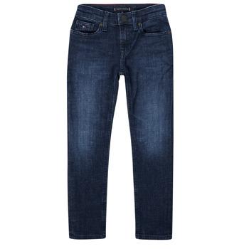 Îmbracaminte Băieți Jeans slim Tommy Hilfiger ARMAND Albastru