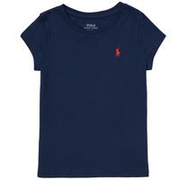Îmbracaminte Fete Tricouri mânecă scurtă Polo Ralph Lauren DRETU Albastru