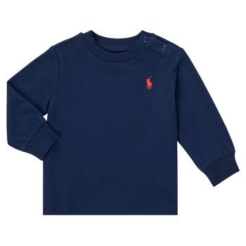 Îmbracaminte Băieți Tricouri cu mânecă lungă  Polo Ralph Lauren FADILA Albastru