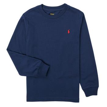 Îmbracaminte Băieți Tricouri cu mânecă lungă  Polo Ralph Lauren KEMILO Albastru