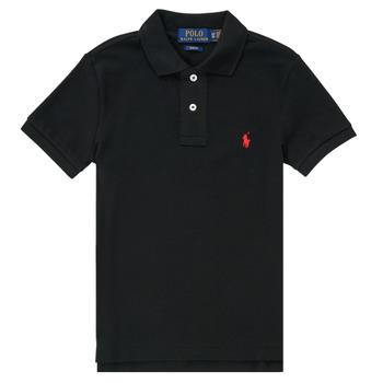 Îmbracaminte Băieți Tricou Polo mânecă scurtă Polo Ralph Lauren HOULIA Negru
