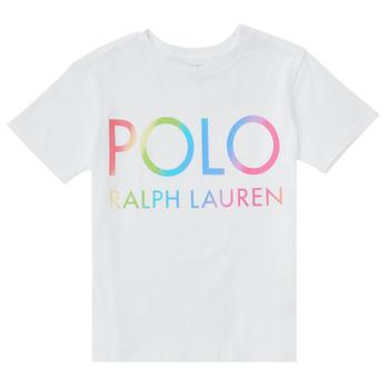 Îmbracaminte Băieți Tricouri mânecă scurtă Polo Ralph Lauren FERILO Alb
