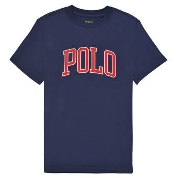 Îmbracaminte Fete Tricouri mânecă scurtă Polo Ralph Lauren MATIKA Albastru