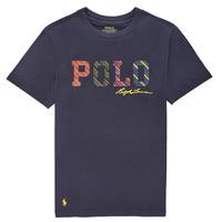 Îmbracaminte Băieți Tricouri mânecă scurtă Polo Ralph Lauren COLLINA Albastru