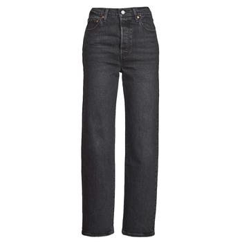 Îmbracaminte Femei Jeans drepti Levi's RIBCAGE STRAIGHT ANKLE Gri / Culoare închisă