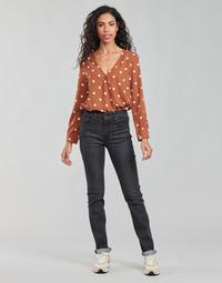Îmbracaminte Femei Jeans drepti Levi's 725 HIGH RISE STRAIGHT Negru