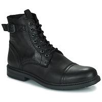 Pantofi Bărbați Ghete Jack & Jones JFW SHELBY LEATHER Negru