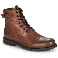 Pantofi Bărbați Ghete Jack & Jones JFW SHELBY LEATHER Coniac