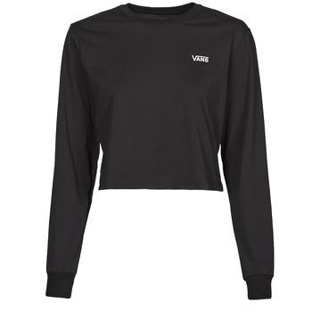 Îmbracaminte Femei Tricouri cu mânecă lungă  Vans JUNIOR V LS CROP Negru