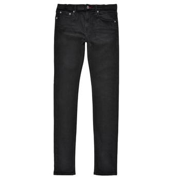 Îmbracaminte Băieți Jeans skinny Teddy Smith FLASH SKINNY Negru