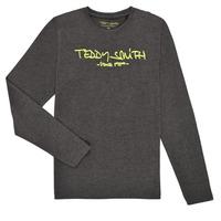 Îmbracaminte Băieți Tricouri cu mânecă lungă  Teddy Smith TICLASS3 ML Gri