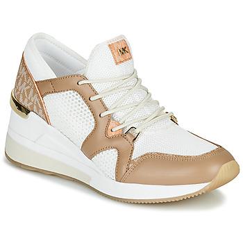 Pantofi Femei Pantofi sport Casual MICHAEL Michael Kors LIV Camel / Alb