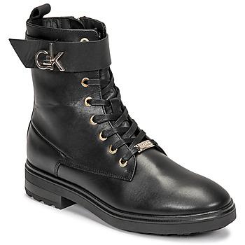 Pantofi Femei Botine Calvin Klein Jeans CLEAT BIKER BOOT Negru
