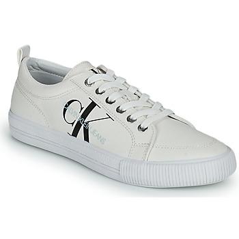 Pantofi Femei Pantofi sport Casual Calvin Klein Jeans VULCANIZED LACEUP SNEAKER Alb