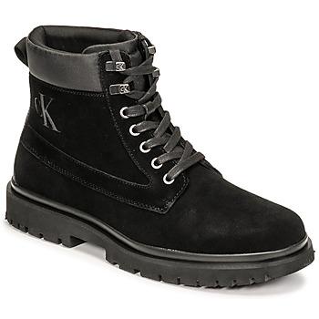 Pantofi Bărbați Ghete Calvin Klein Jeans LUG MID LACEUP BOOT HIKE Negru