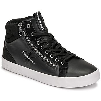 Pantofi Bărbați Pantofi sport stil gheata Calvin Klein Jeans VULCANIZED MID LACEUP Negru