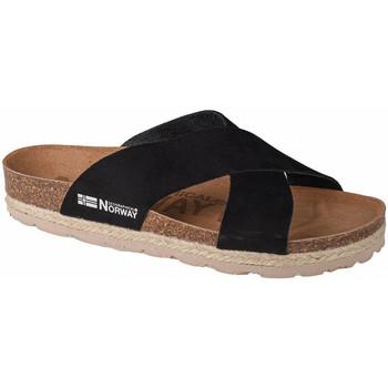 Pantofi Femei Papuci de vară Geographical Norway Sandalias Bios Tiras Cruzadas Noir