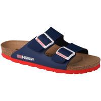 Pantofi Femei Papuci de vară Geographical Norway Sandalias Bios Doble Hebilla Bleu marine