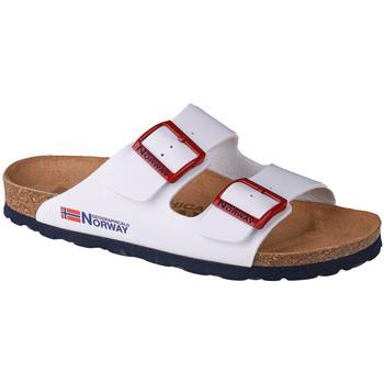 Pantofi Femei Papuci de vară Geographical Norway Sandalias Bios Doble Hebilla Blanc