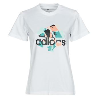Îmbracaminte Femei Tricouri mânecă scurtă adidas Performance FLORAL GFX Alb