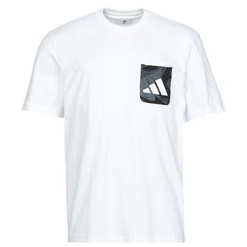Îmbracaminte Bărbați Tricouri mânecă scurtă adidas Performance CAMO PKT TEE Alb