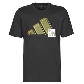 Îmbracaminte Bărbați Tricouri mânecă scurtă adidas Performance 3BAR LOGO TEE Negru