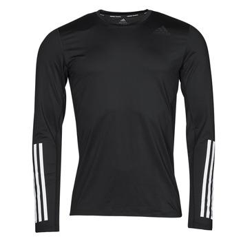 Îmbracaminte Bărbați Tricouri cu mânecă lungă  adidas Performance TF LS FT 3S Negru