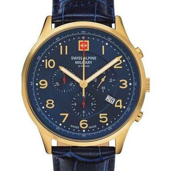 Ceasuri & Bijuterii Bărbați Ceasuri Analogice Swiss Alpine Military Swiss Military 7084.9515, Quartz, 43mm, 10ATM Auriu