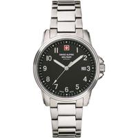 Ceasuri & Bijuterii Bărbați Ceasuri Analogice Swiss Alpine Military 7011.1137, Quartz, 40mm, 10ATM Argintiu
