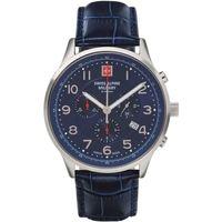 Ceasuri & Bijuterii Bărbați Ceasuri Analogice Swiss Alpine Military 7084.9535, Quartz, 43mm, 10ATM Argintiu
