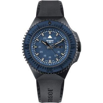 Ceasuri & Bijuterii Bărbați Ceasuri Analogice Traser H3 Traser 109857, Quartz, 46mm, 20ATM Negru