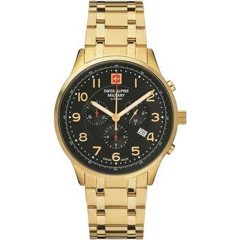 Ceasuri & Bijuterii Bărbați Ceasuri Analogice Swiss Alpine Military 7084.9117, Quartz, 43mm, 10ATM Auriu