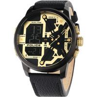 Ceasuri & Bijuterii Bărbați Cesuri Analogic- digital Police PEWJD2003202, Quartz, 48mm, 5ATM Negru