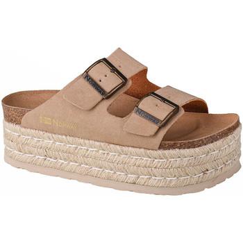 Pantofi Femei Papuci de vară Geographical Norway Sandalias Plataforma Comoda Beige