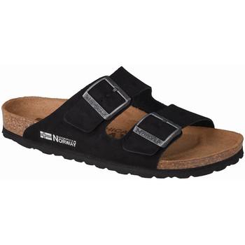 Pantofi Femei Papuci de vară Geographical Norway Sandalias Bios Doble Hebilla Noir