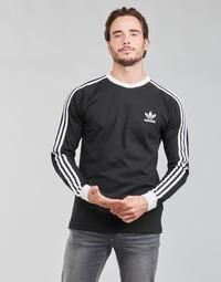 Îmbracaminte Bărbați Tricouri cu mânecă lungă  adidas Originals 3-STRIPES LS T Negru