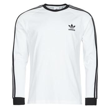 Îmbracaminte Bărbați Tricouri cu mânecă lungă  adidas Originals 3-STRIPES LS T Alb