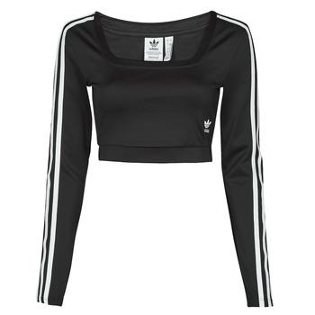 Îmbracaminte Femei Tricouri cu mânecă lungă  adidas Originals LONG SLEEVE Negru